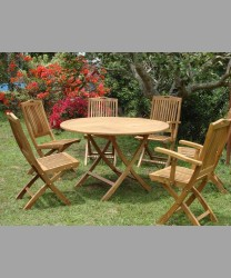 Bristol Round Folding Table & Remy Chairs