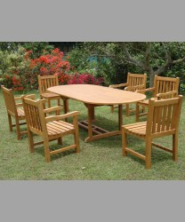 Oval Extending Table & English Garden Chairs