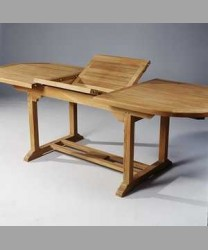 "Carlisle Oval Extending Table ""Small Slats"" 180 x 120/ 240 cm"