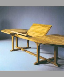 Oval Extending Table 240 x 120/ 380 cm