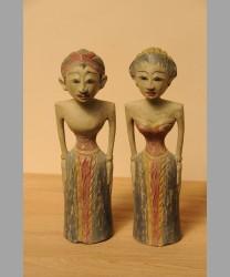 Javanese Standing Bride & Bridegroom Statue