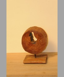 Round Wooden Teak Root
