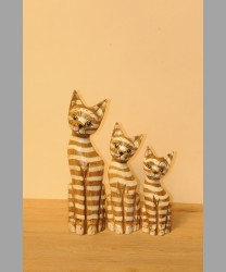 Wooden Carved Cat