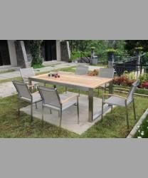 Rivoli Table 200x100cm Wit Recyled Teak