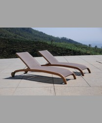 Milano Lounger Teak Frame With Sling