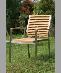 Sonoma Stacking Arm Chair 2014 With Teak Slats