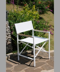 Sonoma Director Arm Chair With Sling SS White