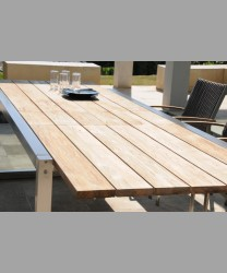 Rivoli Ext. Table 220-300 x 100 cm With Recycled Teak Top