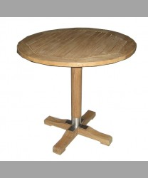 Parisian Round Table 80 cm With Teak Leg