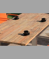 Milano Ext. Table 2014 With Recycled Teak