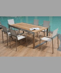RIVOLI TABLE 200 X 100 RECYCLED