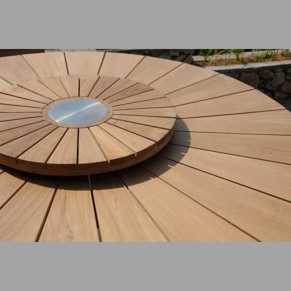 Parisian Round Table Matahari With Recycled Teak Casa Java Furniture