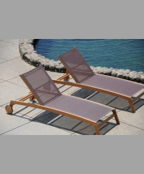 Rivoli Lounger Teak Frame With Sling