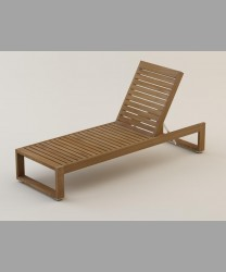Maestro Lounger With Teak Slats