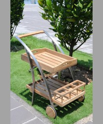 Parisian Trolley With Recycled Teak