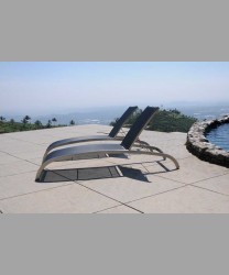 Milano Lounger Stainless Steel Batyline