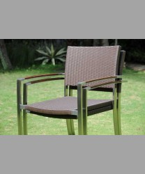 Milano Stacking Arm Chair Wicker